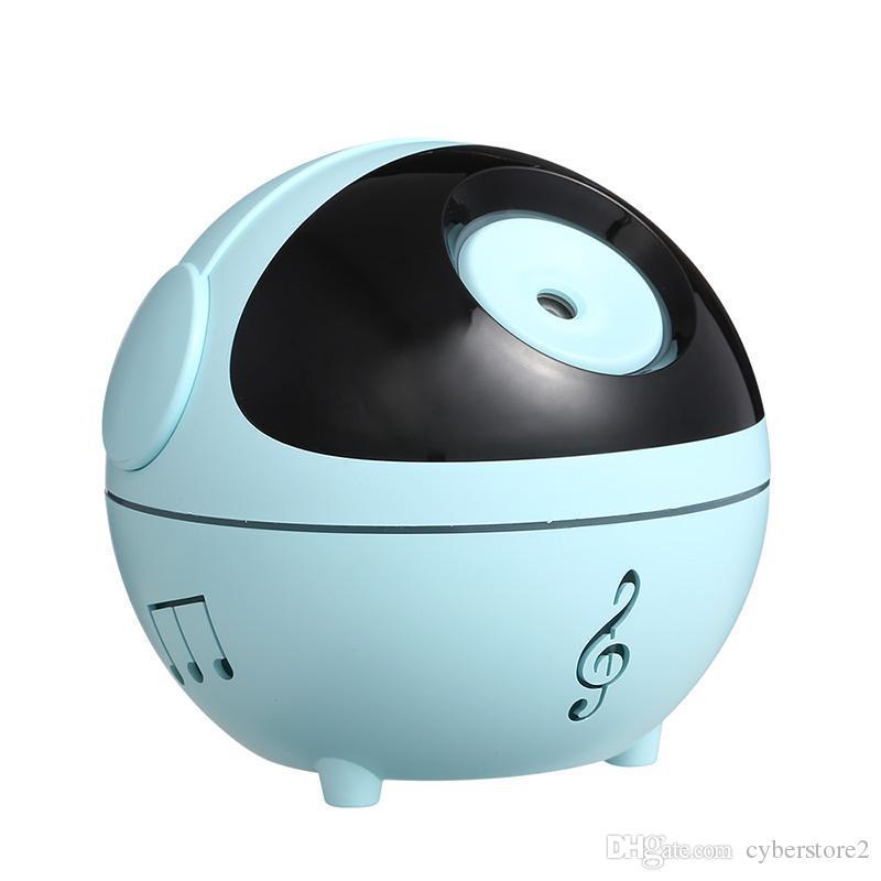 Nuovi 350ml Mini Musica Muto silenzioso umidificatore Diffusore Mist umidificatori idratare la pelle disegno della sfera di sonno per l'ufficio Home Auto