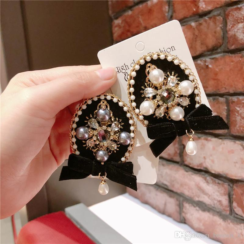 top quality fashion tassel brooch trendy fashion Round Bow tie Suit Scarf Shawl Lapel Pins Jewelry Wedding Party Jewelry brooches