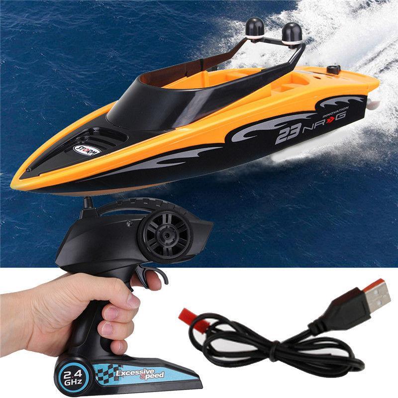 عالية السرعة rc قارب 2.4 جيجا هرتز 4 قناة راديو التحكم عن rc سباق قارب اللعب الكهربائية rc لعب ل childern أفضل الهدايا