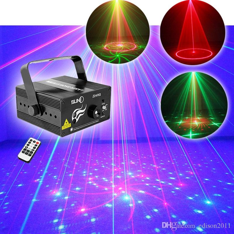 Suny High Quality RGB Mini 3 Lens 24 Patterns Mixing Laser Projector Effect Stage Remote 3W Blue LED Light Show Disco Party Lighting