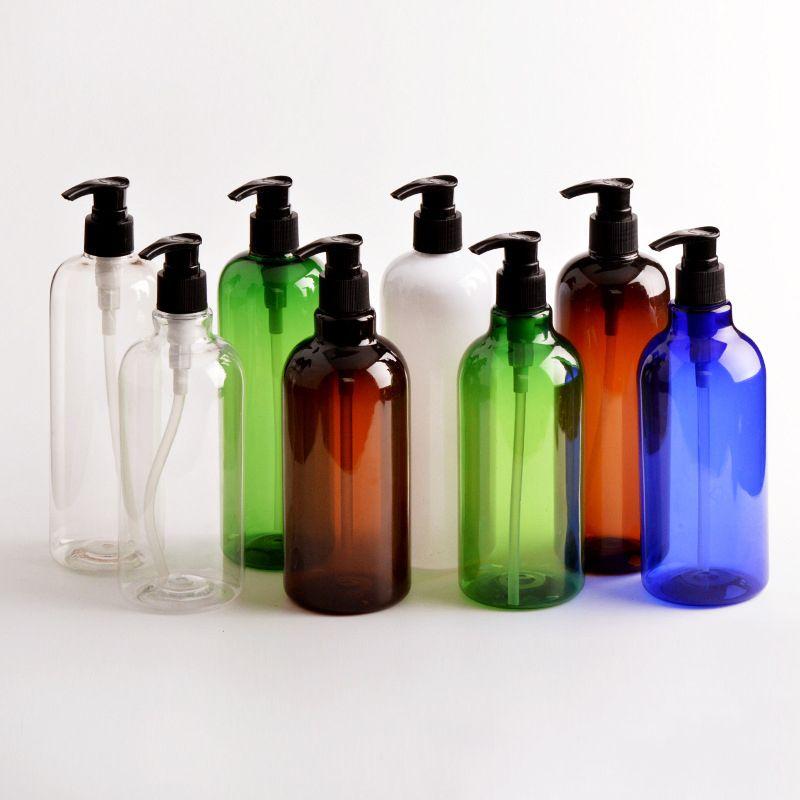 500ml plastique PET vide 16,7 oz Pompe Bouteilles de bouteilles à remplissages multiples sauces de cuisson Huiles essentielles Huiles Savons liquides ou produsto Beauté bio