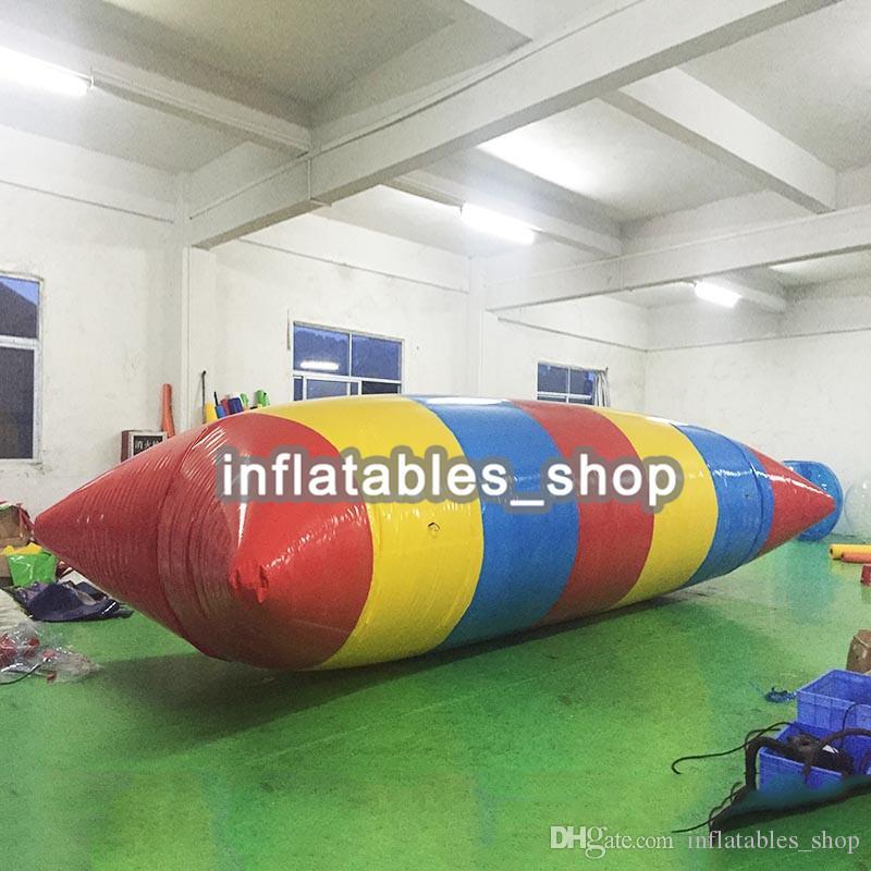 الشحن مجانا ! مضخة مجانية! 7 * 3 متر PVC القفز المياه المنجنيق نفخ القفز فقاعة نفخ فقاعة الماء كذاب كيس وسادة المياه