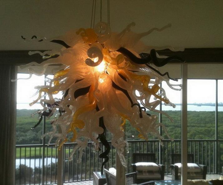 Decorações do casamento Designer Pendant Light para itens New House Hall Iluminação Chihuly vidro Murano Cristal Chandeleir Luz