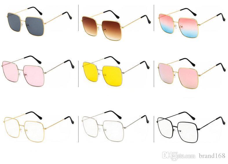 (ÇİNDE YAPILDI) YENİ STİL 9 Renkler Yeni Klasik metal kare güneş gözlüğü bayan spor güneş gözlüğü Açık bisiklet güneş gözlükleri.