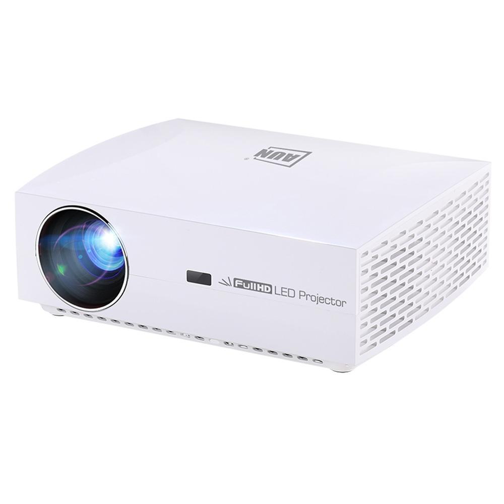 AUN F30UP 5,8 pollici schermo LCD 5500 proiettore astuto HD lumen 1920x1080P completa con telecomando, Android 6.0, 2GB + 16GB, supporto audio out /
