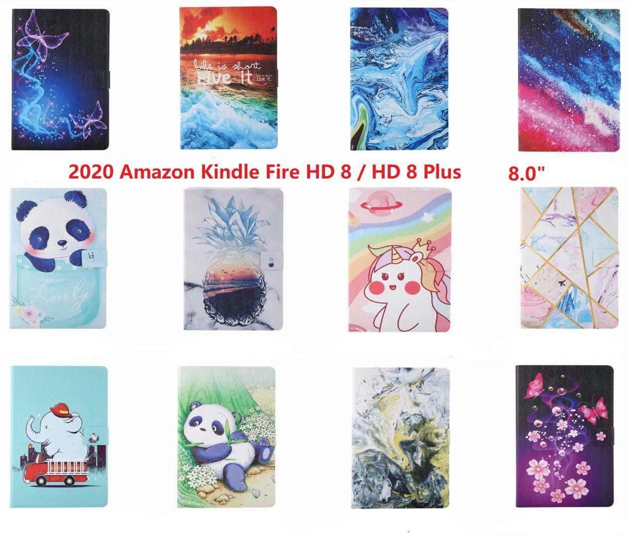 """حالة للحصول على الامازون أوقد النار HD 8 زائد 2020 اللوحي غطاء الحريق HD8 8.0 """"بطاقة حامل حقيبة"""