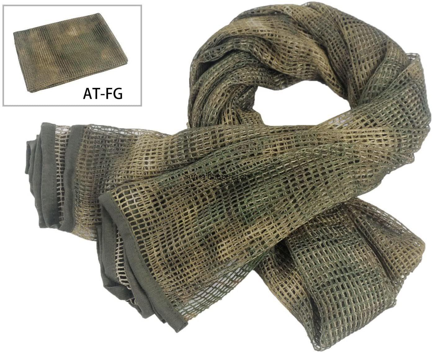 Tactical Neck Scarves Woodland Camo Scarf Sniper Veil Desert Shemagh for Wargame Outdoor Sports