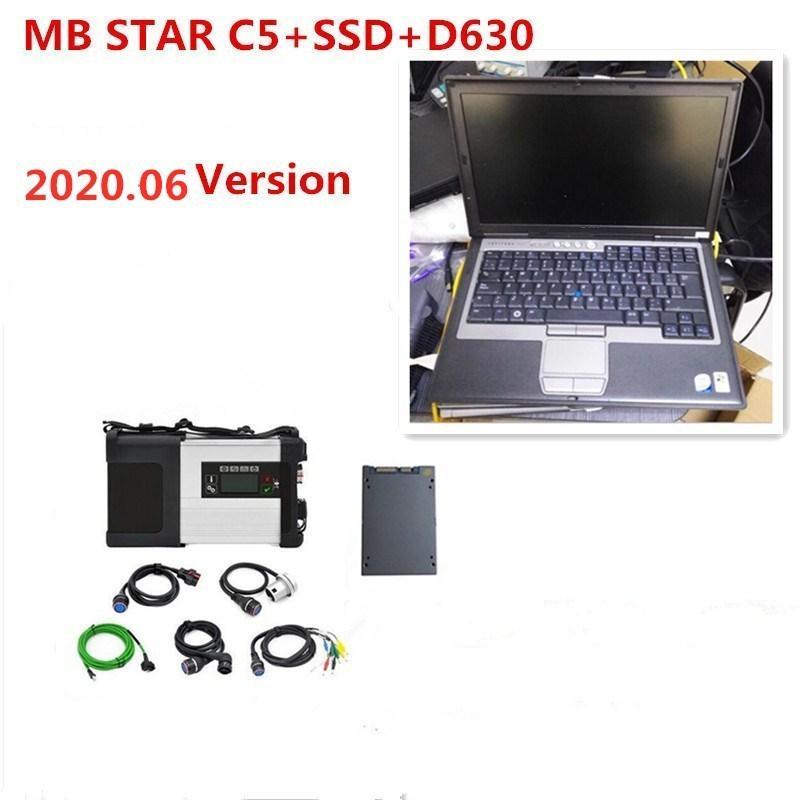 coche de la estrella del MB SD conecta C5 C5 diagnóstico 360GB SSD estrella del MB C5 D630 utiliza portátil 2020.06V suave-mercancías vediamo / Xentry / DAS