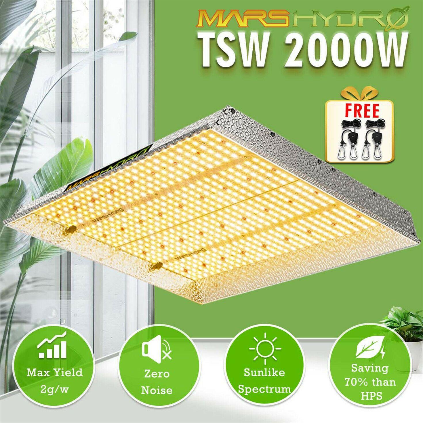 المريخ هيدرو TSW 2000W LED نمو الخفيفة الشبيهة بالشمس لكامل الطيف داخلي الخضار زهرة
