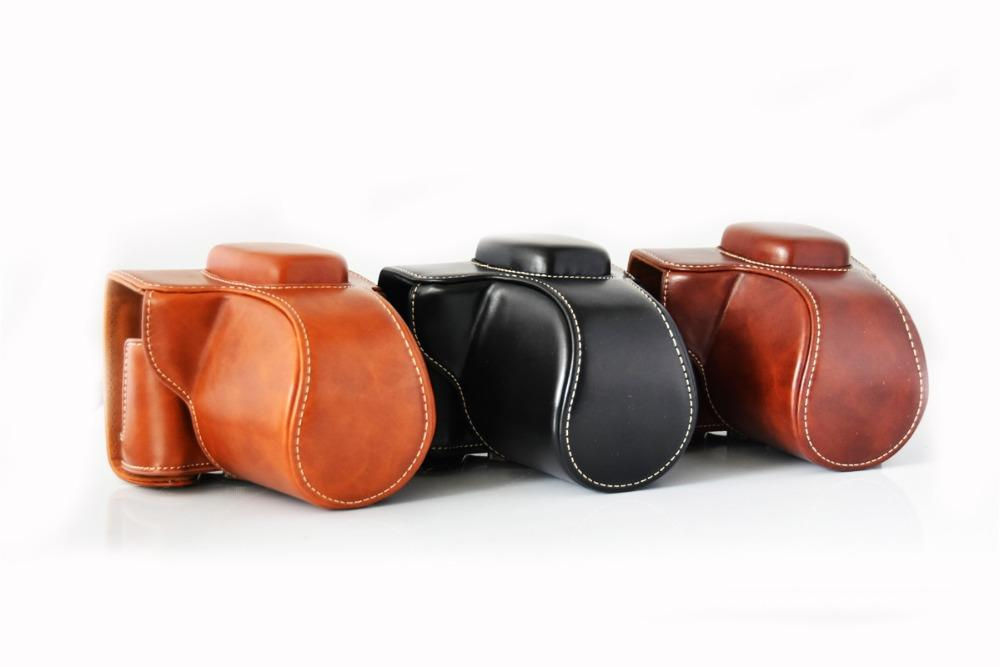 New PU Leather Camera Case Full Bag For Fujifilm XT100 Fujifilm x-t100 XT10/20 Camera Bag Cover With Strap 3 color