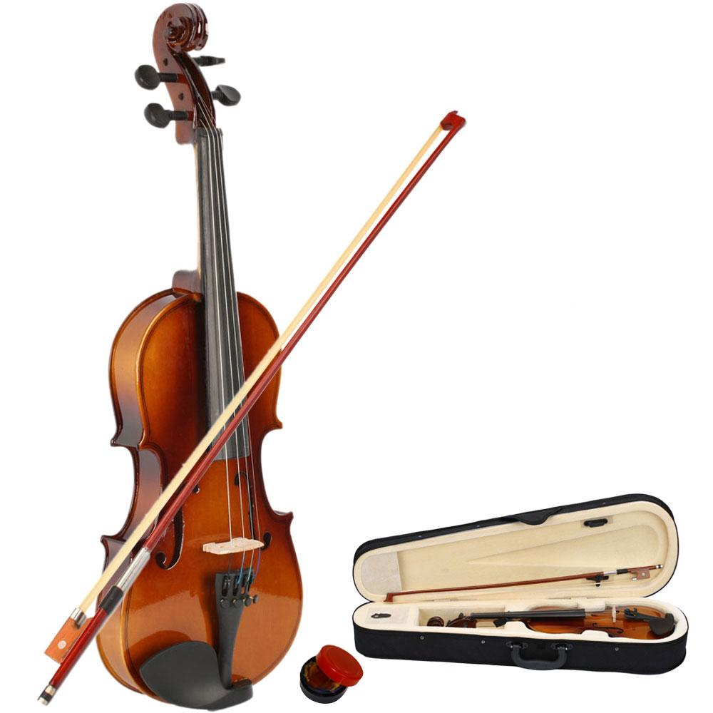 Новый Professional 1/2 размер натуральный цвет акустическая скрипка с корпусом + бантом + канифоли для новичков и любителей скрипок