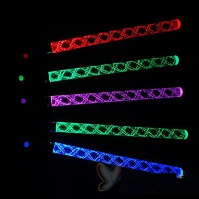 Hot Acrílico Bolha Brilho Vara Concerto Torcendo Adereços LED Eletrônico Flash Onda De Água Vara Colorido Piscando Vara Crianças Brilhantes Brinquedos