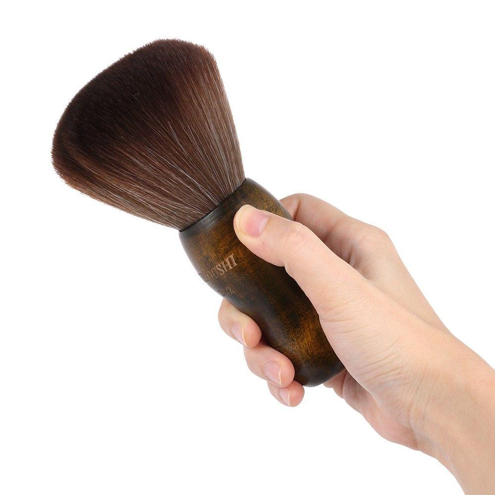 اللحية الرقبة الشعر المنفضة فرشاة صالون الشعر النظيف قطع الحلاق تصفيف الشعر فرشاة لينة الوجه فرش