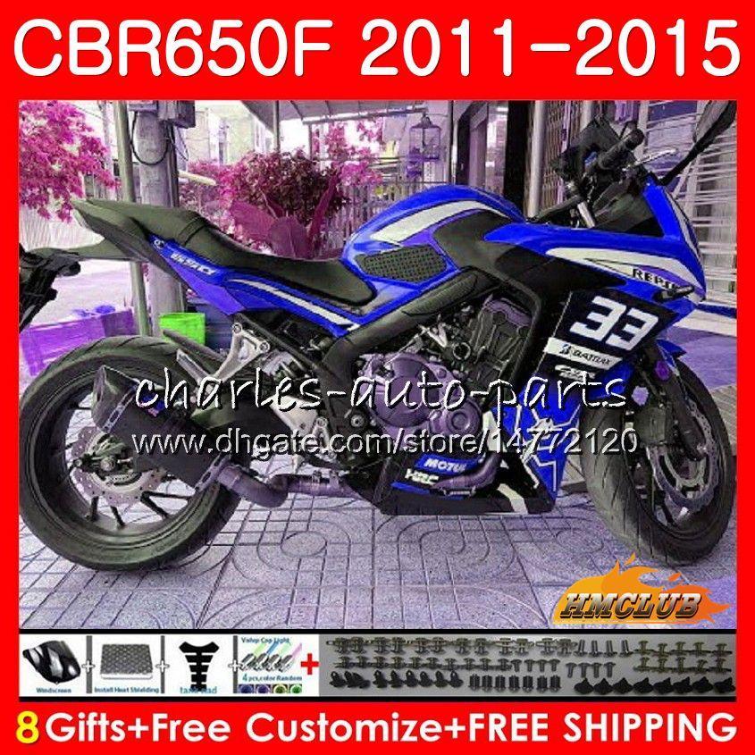 Corpo Para HONDA CBR650F azul CBR650F prateado 2011 2012 2013 2014 2015 42HC.78 CBR650 F CBR650 CBR 650 F CBR 650F 11 12 13 14 15 16 carenagens