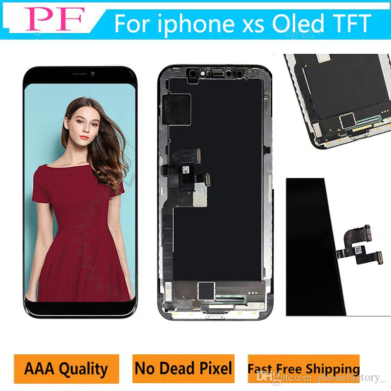 Original 3D Touch OLED TFT Screen For iPhone XS lcd Replacement Digitize Display Assembly Screen NO Dead point test one by one