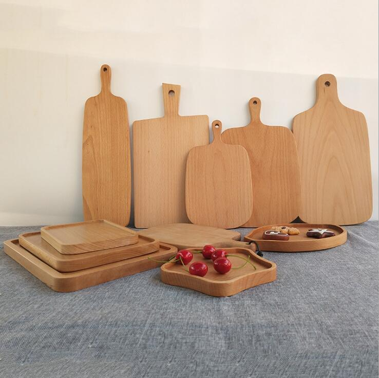 Wooden Cutting Boards Pizza Fruit Bread Plate Wood Chopping Board Baking Bread Board Tool No Cracking Deformation Plate