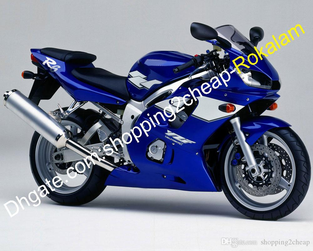 Yamaha R6 Blue And White
