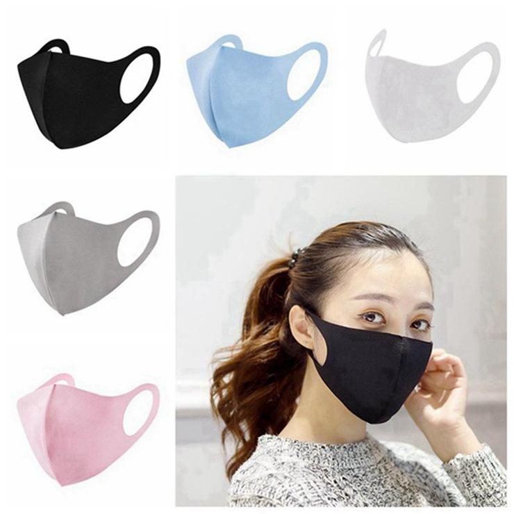 Anti Dust Face Mouth Cover PM2.5 Mask Respirator Dustproof Anti-bacterial Washable Reusable Ice Silk Cotton Masks Tools In Stock 300pcs
