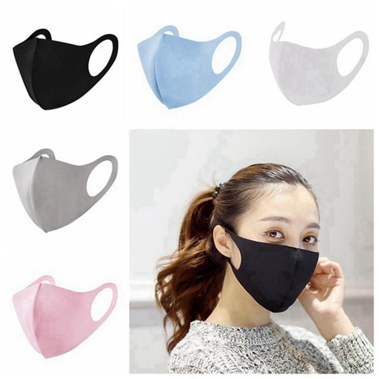 Anti-poussière Visage Bouche Couverture PM2,5-masque anti-poussière Anti-bactérien lavable réutilisable de glace en soie coton Masques Outils En Stock 300pcs