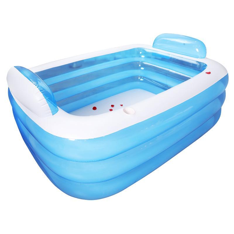 Double bain trois couches bain spéciale piscine piscine d'isolement adulte épaississement bébé jeu d'enfant coussin gonflable