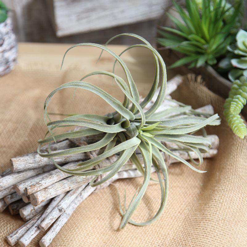 1 قطع محاكاة زهرة المنزل الديكور شنقا الهواء العشب الروطان باقة الزفاف الديكور النباتات الخضراء الاصطناعي وهمية زهرة