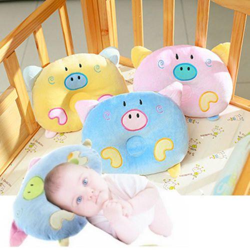 لطيف خنزير طفل رضيع الوليد النوم ميضعة دعم وسادة وسادة منع رئيس شقة الطفل Pillow-20