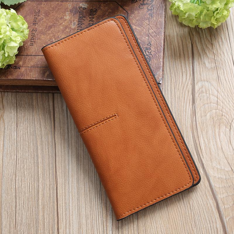 2019 Novas bolsas magro e bolsa carteira vintage PU couro bolsas womens casuais carteiras wallets luxo mulheres hbiwt