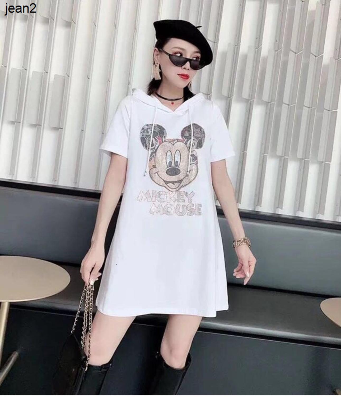 2020 fashion goddess new shining hot stamping long sleeve hooded sweater dress beautiful and elegant 040504