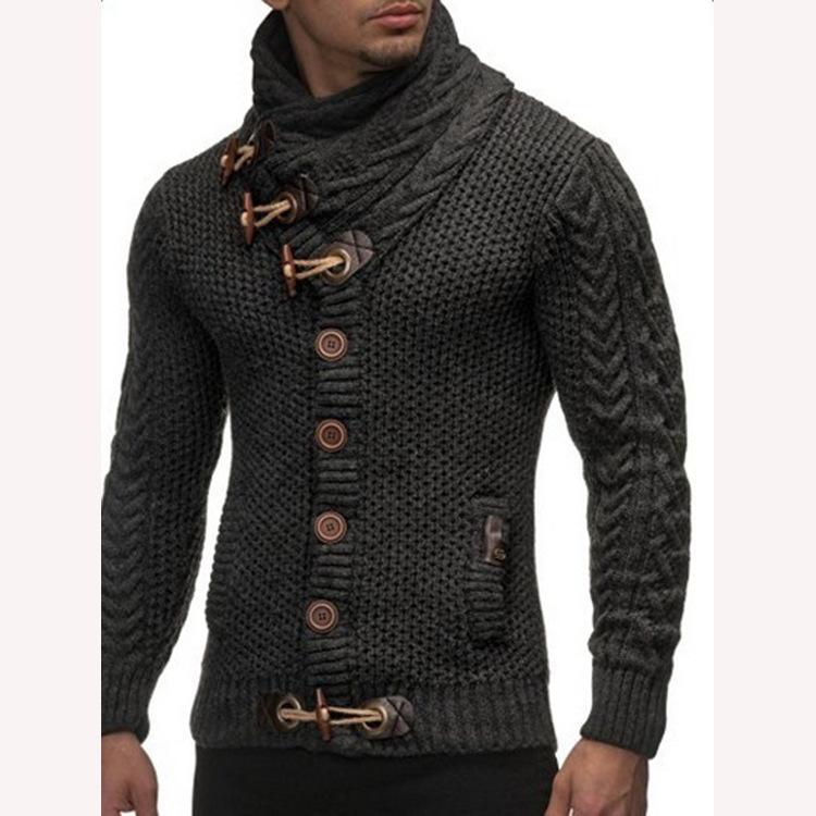 Tasarımcı Sonbahar Kış Kazak Hırka Erkekler Marka Casual Slim Kazak Erkek Kalın balıkçı yaka kazak 3XL Erkekler için moda Isınma Hedging ısıtın