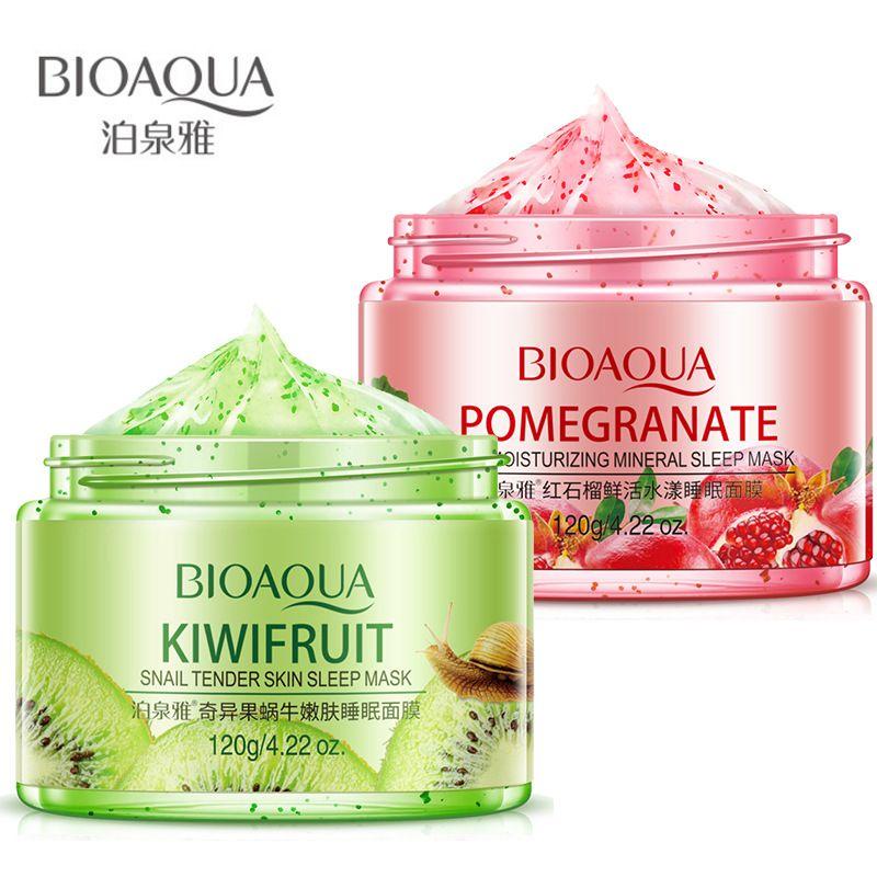 120 جرام Bioaqua الفاكهة العناية بالبشرة قناع عميق ترطيب النوم قناع مزيل البثرة إصلاح الوجه قناع الجمال