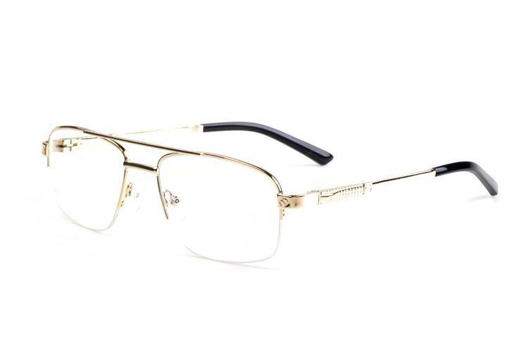 2019 erkekler kadınlar için marka güneş gözlüğü buffalo boynuz gözlük çerçevesiz tasarımcı altın gümüş gri siyah metal kutu kasa ile lunettes 4817760 51mm