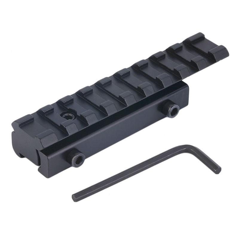 Tactical 11mm to 20mm Dovetail to Weaver Rail Mount Base Adapter for Scope Mount Converter Laser Sight