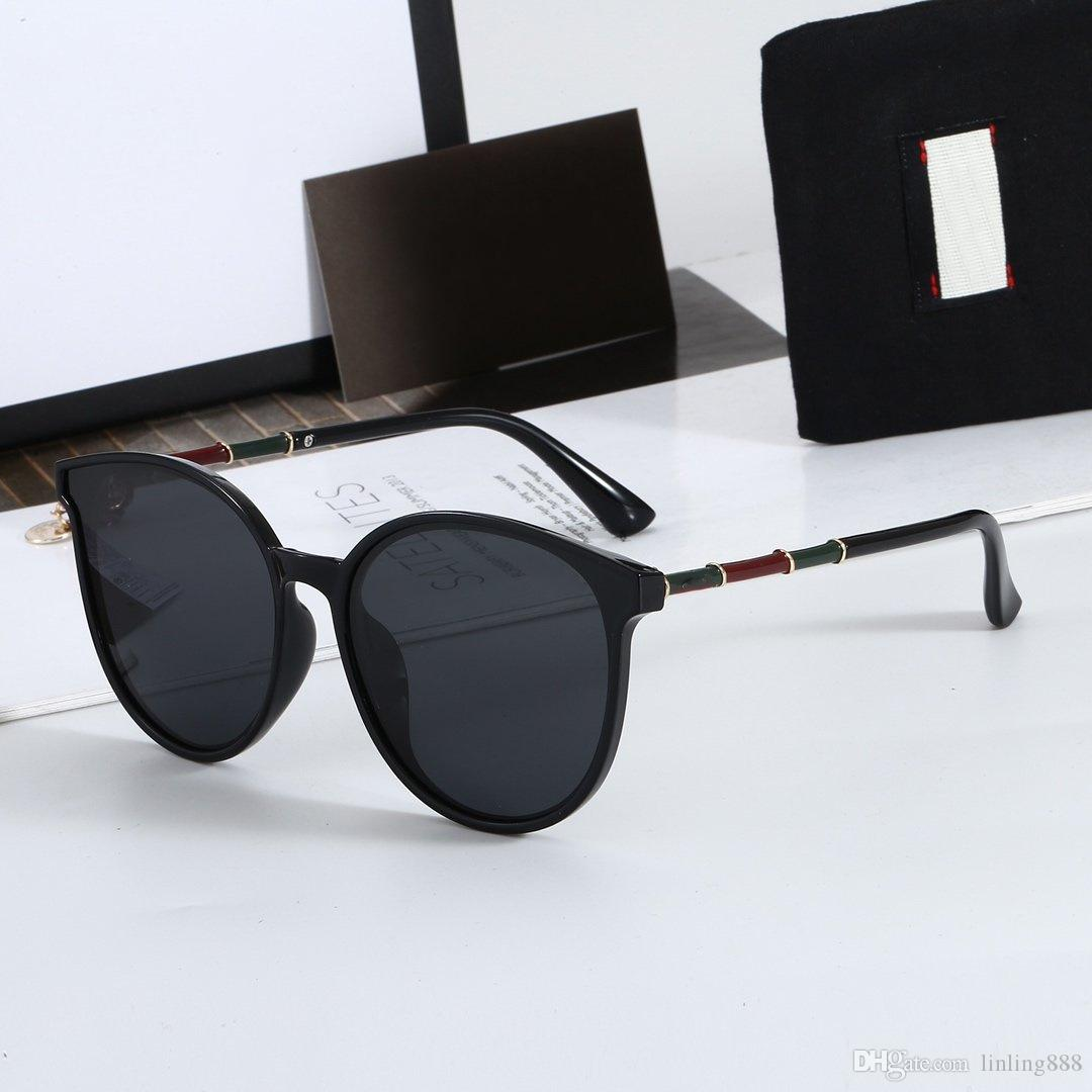 2020 Luxury Designer Sunglasses For Men Fashion Full Frame UV400 UV protection Lens Steampunk Women Summer Round Style Comw With Package