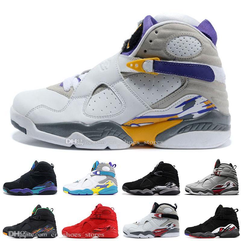 2019 Homens tênis de basquete 8s Valentines Day 3 Peat do Aqua contagem regressiva Pack 8 Mens Trainers Designer Sports Sneakers Tamanho 7-13