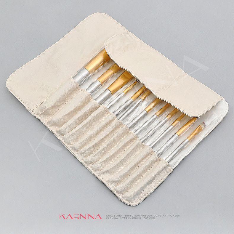 12 /18 /24 pcs off Beige wood handle makeup brush set professional powder brush eye beauty makeup tool