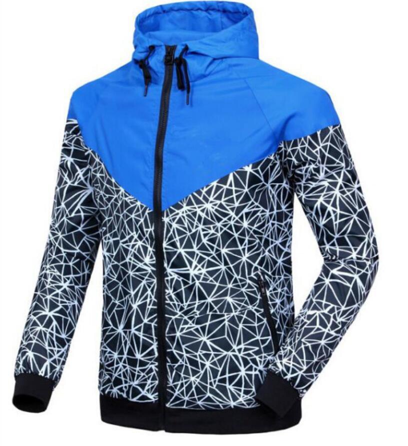 2019 Erkekler Moda erkek windcheater ceketler kapüşonlu hareket erkek rüzgarlık ince Windrunner Yeni varış tek tabakalı spor mont hoodies Güz