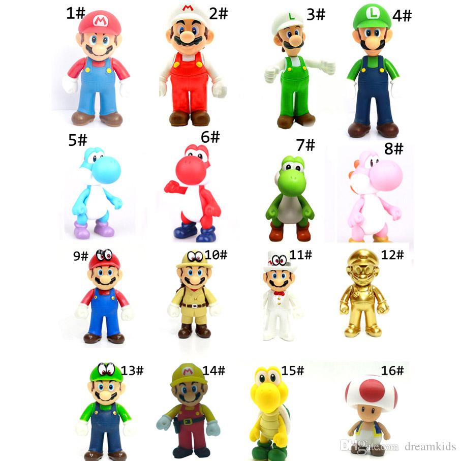 Super Mario Bros Mario Yoshi Luigi set of 3 Action Figure 11-12cm Toy Collection
