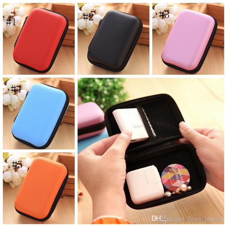 5 Colors Digital Storage Bag Data Cable Zipper Bags Earphone Package Case Mobile Phone Charger Organizer Sundries Travel Storage Bag AN2990