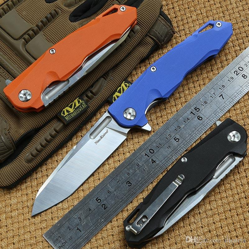 Nimo knives SHANXIAO Flipper folding knife 9Cr18mov Blade ball bearings G10 handle outdoor hunting Camp survival Knives EDC tool