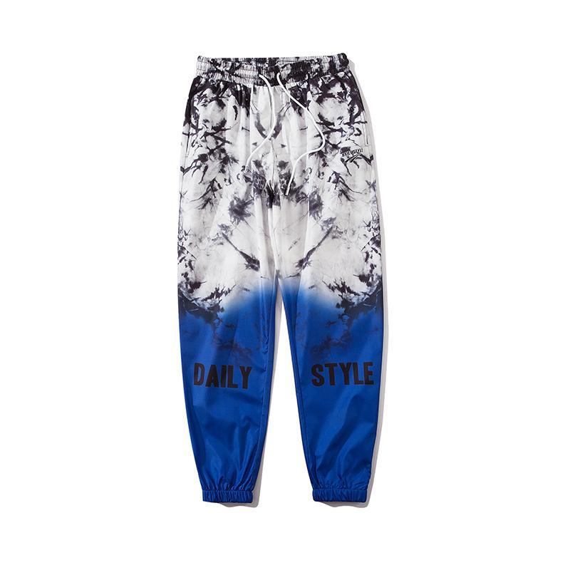 Erkekler Gradyan Koşucular HipHop Harem Pantolon Streetwear Casual Pantolon eşofman 2020 Yaz Unisex Oversize Jogger baskılı