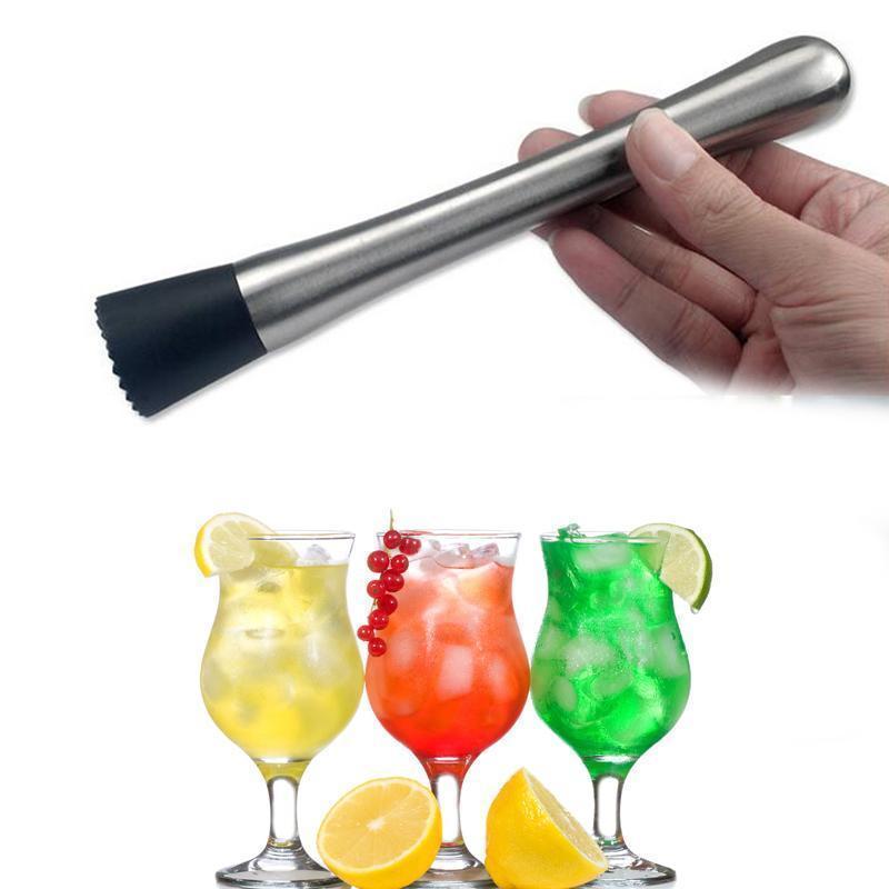 Nuovo cocktail di ghiaccio Swizzle Stick Frutta Muddle pestello Popsicle Sticks Crushed ghiaccio dell'acciaio inossidabile del martello Strumenti Bar strumenti di vino Muddler Hammer