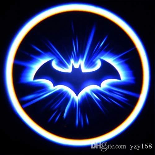 Welcome Light, Mini 3D LEDLaser Projector Logo Batman Shadow Light, Car-Styling Car Interior Decoration Light Compatible Most Cars