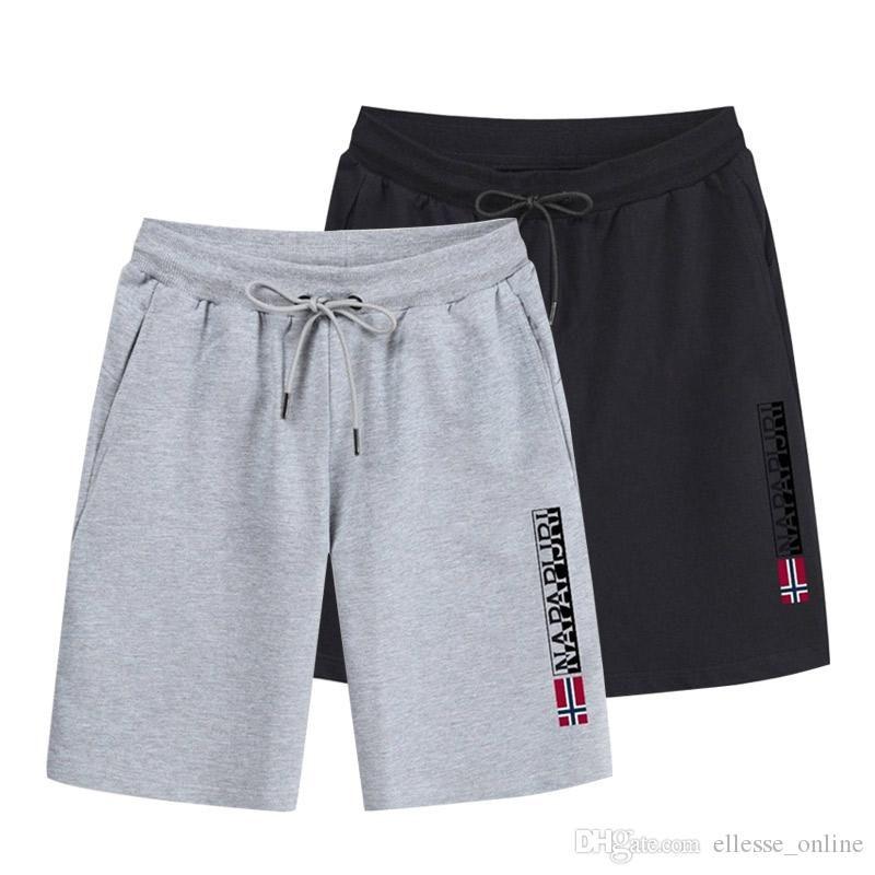 Yeni Erkek Moda Casual Pantolon Erkek Sweatpants Çekip ip Koşu Yaz Kısa Pantolon Siyah Lacivert Gri Boyut S-3XL
