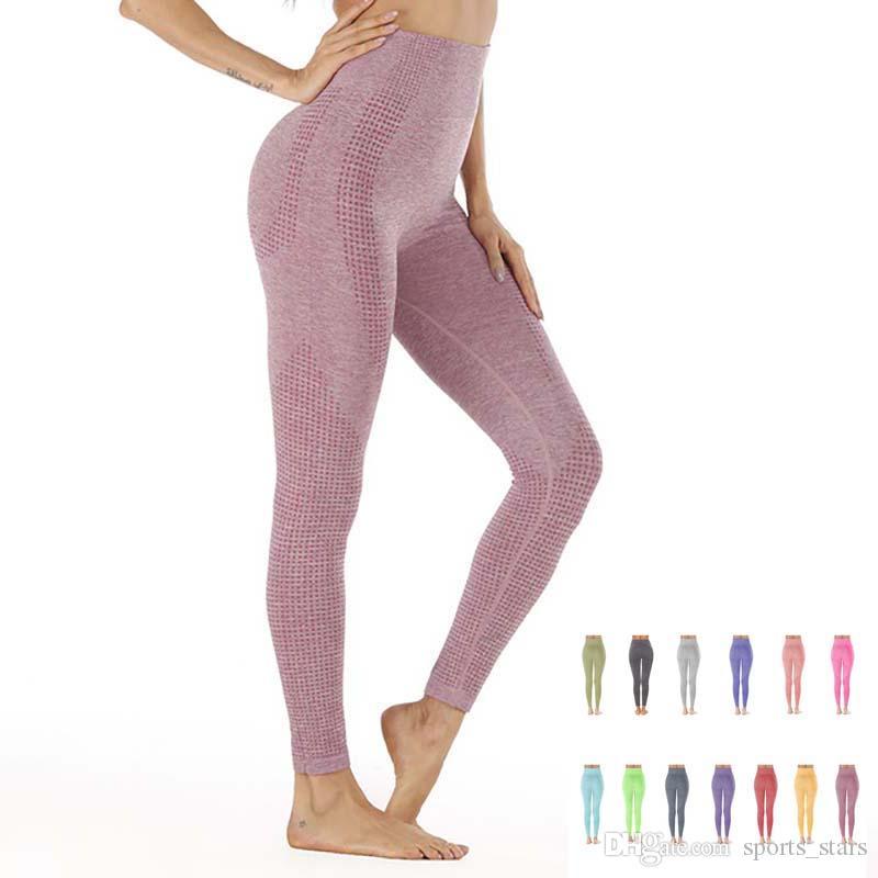 2019 여름 새로운 얇은 섹션 원활한 높은 허리 꽉 바닥 피트니스 yoga 바지 패션 스포츠 댄스 바지