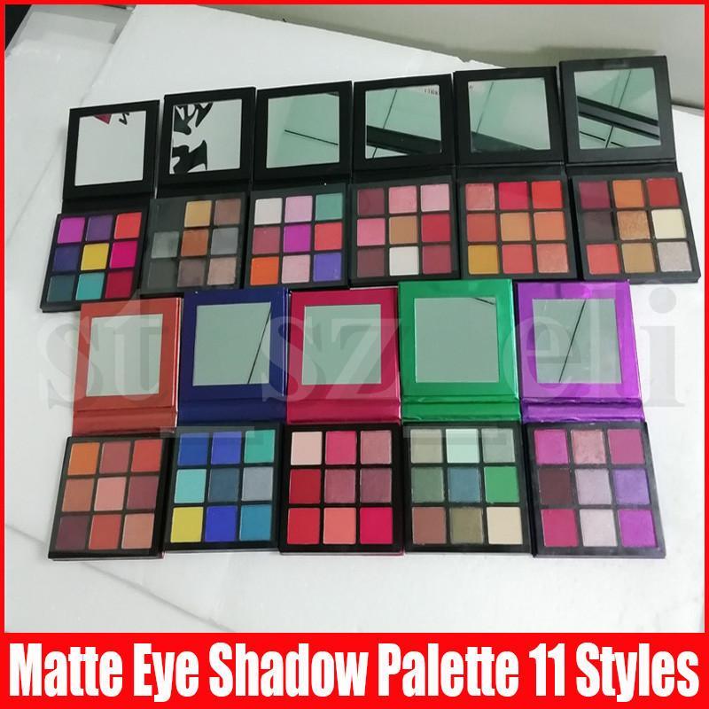 9 Colors Matte Eyeshadow Presses Palette Makeup Eye shadow Smokey Mauve Electric Warm Brown Amethyst Ruby Emerald Sapphire Coral Gemstone