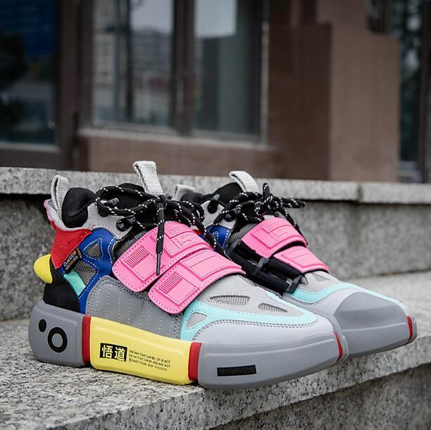 diseñador de moda Semana de la Moda de París 2020xiao Wade aclara reflectantes nuevos viejos papá deporte de los hombres de las mujeres calza los zapatos corrientes de los deportes respirables