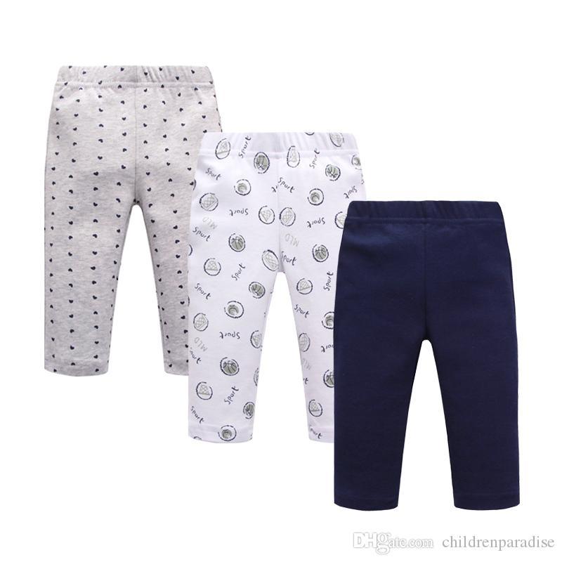 Baby Pants 100% Cotton boy Girl Pants Print Infant Baby Leggings Waist Kids Pant Trousers Baby Clothes Set