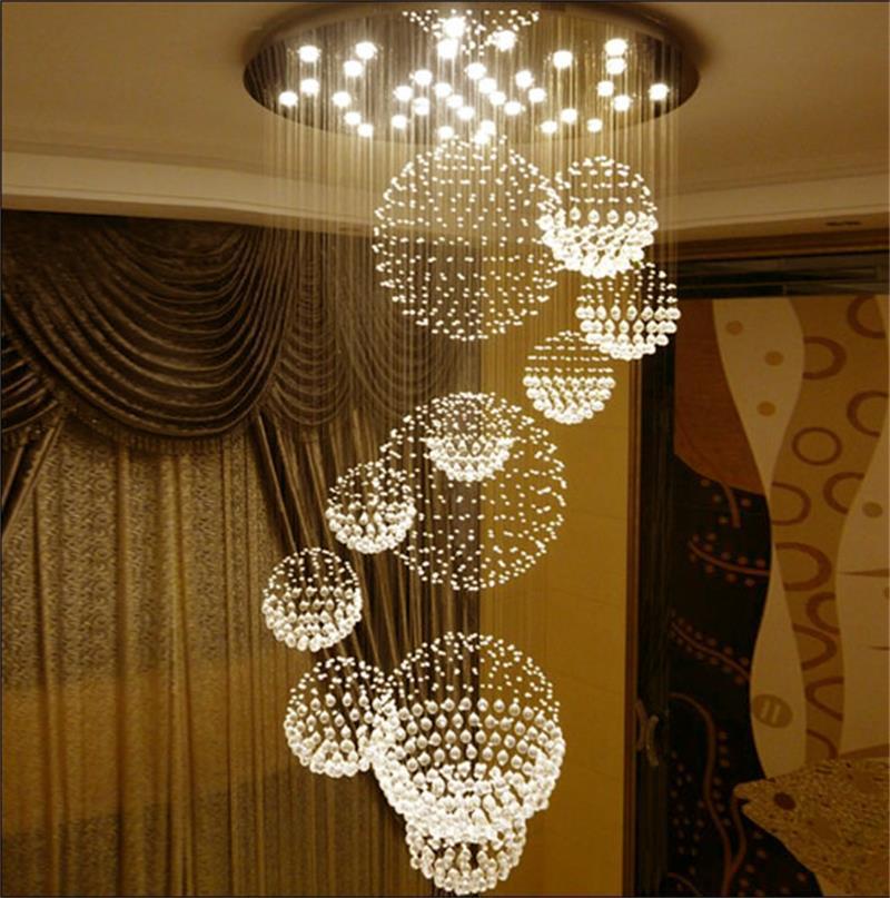 Flush Modern Chandelier K9 cristallo della goccia di pioggia lampadario di illuminazione LED della staffa di fissaggio a soffitto della lampada di pendente della luce per pranzo Camera da letto