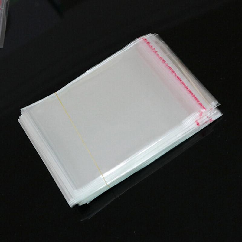 """200pcs 14x13+3cm Crystal Clear Poly Cello Bags 5.51"""" x 6.69"""" Self Adhesive Seal Opp plastic Cosmetics Jewelry Packaging Bags"""