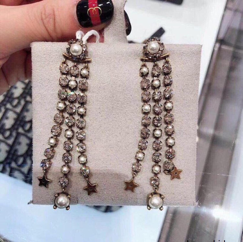Toujours clair Boucles d'oreilles occasionnels et classique pour les femmes de mode nouveau diamant 032304